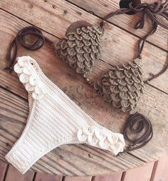 38 Summer Free Crochet Bikini Pattern Design Ideas for This Year - Daily Crochet! 38 Summer Free Crochet Bikini Pattern Design Ideas for This Year - Daily Crochet! Motif Bikini Crochet, Crochet Bikini Bottoms, Crochet Motifs, Crochet Patterns, Haut Bikini, Bikini Tops, Bikini Models, Crochet Clothes, Crocs