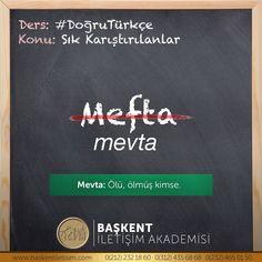 "#SıkKarıştırılanlar ""mefta"" mı ""mevta"" mı❓ Turkish Language, More Than Words, Study Motivation, Word Porn, Karma, Poems, Education, Quotes, Motivation To Study"