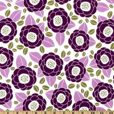 Aviary 2 Bloom Lilac from @fabricdotcom  Designed by Joel Dewberry for Free Spirit Fabric, this floral cotton print fabric features a color palette of white, lilac, sage and purple. Use fabric for quilts, home decor accents and craft projects.