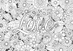 Love in the Garden - Colour with Me HELLO ANGEL - coloring, design, detailed, meditation, coloring for grown ups, floral, love