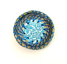 Sweetgrass Basket Miniature Ring Dish Basket by midnightcoiler