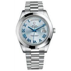 Rolex Day-Date II Cadran Bleu Platinum Case automatique