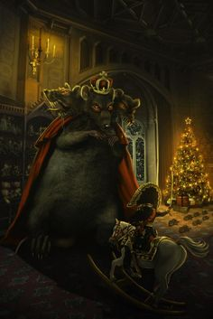 """illustration for a story """"The Nutcracker and the Mouse King"""" by E. Hoffmann used for reference ^Elandria [link] [link] `Fantas. The Nutcracker and the Mouse King Nutcracker Sweet, Nutcracker Christmas, Christmas Eve, Rat Queens, Wave Drawing, Rat King, Fantasy Literature, Classic Fairy Tales, Barbie Movies"""