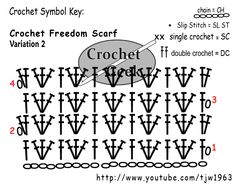 Freedom Scarf pattern for crochet