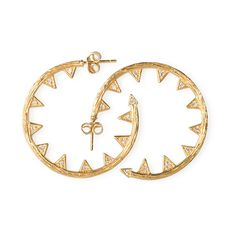 Wear these earrings out on the town and turn heads with this glamorous look. We love this edgy take on a classic shape by Melinda Maria #sneakpeeq