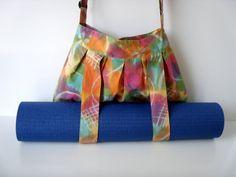Yoga Bag Yellow Batik with Straps for Yoga Mat by BabiminiS
