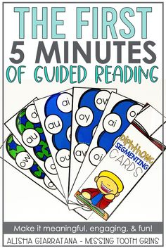 Guided reading warm-ups in kindergarten, first grade, and second grade are important to just start a small group and create an engaging lesson. Using these fun activities and this game with small groups is meaningful and engaging for all students. It helps with teaching the phonics skills and sight words. #guidedreading