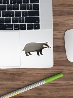 Bring out your wild side with our geometric badger print. Geometric Animal, Badger, Stickers, Prints, Design, Art, Art Background, Kunst