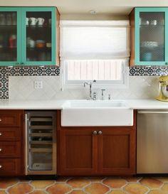 1920s Kitchen Remodel - Kohler sink - Rohl faucet