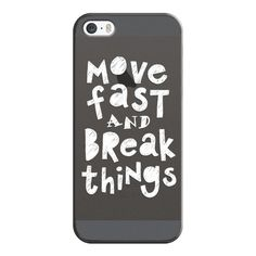 Move Fast & Break Things - iPhone 6s Case,iPhone 6 Case,iPhone 6s Plus... ($35) ❤ liked on Polyvore featuring accessories, tech accessories, iphone case, slim iphone case, apple iphone cases, clear iphone cases, iphone cover case and iphone cases