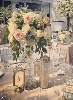 Woodland wedding theme in the glass pavilion at Casa Loma Toronto, Canada // Rachel A. Tall Wedding Centerpieces, Wedding Table Centerpieces, Wedding Reception Decorations, Floral Centerpieces, Floral Arrangements, Wedding Ideas, Centrepieces, Floral Wedding, Wedding Colors