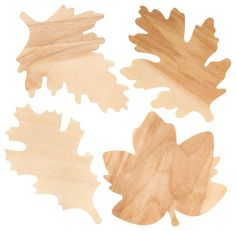 Wooden Fall Leaves - contemporary - accessories and decor - Paper Source