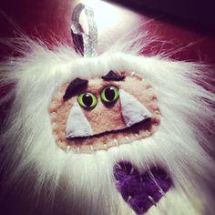 Abominable Yeti or Sasquatch Plush Ornament on Etsy, $12.00 #handmade #plush #yeti