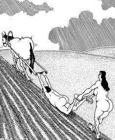 Autrefois, le travail à la terre était usant.