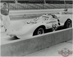 Testing at Indianapolis Hall quickly realized that with gearing better suited to the track, and maybe a bit less spoiler, the Chaparral would as fast as the best USAC Indy cars. George Moore photo.