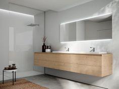 Descarga el catálogo y solicita al fabricante Cubik n°16 By idea, mueble bajo lavabo suspendido de madera con espejo, Colección cubik