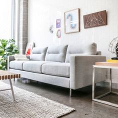 The Logan Sofa balances comfort with refined, modern style.