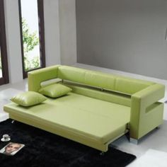 modern folding sofa bed design ideas for living room furniture 2019 Loveseat Sofa Bed, Sectional Sleeper Sofa, Sofa Chair, Sleeper Chair, Green Leather Sofa, Best Leather Sofa, Leather Loveseat, Green Sofa, Black Leather