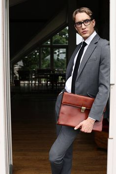 Gift for him leather business bag leather briefcase Leather