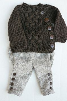 Waldorf Girl Doll Clothes  Trousers & Sweater fit by brusenjka