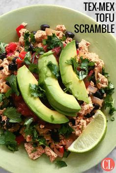 Tofu and black beans combine for a good dose of protein and fiber, while avocado adds healthy fat that will tone down the punch of chipotle chili powder. | Cooking LIght