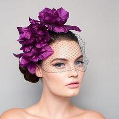 Bijou Van Ness Floraline Silk Flower & Veil Headband