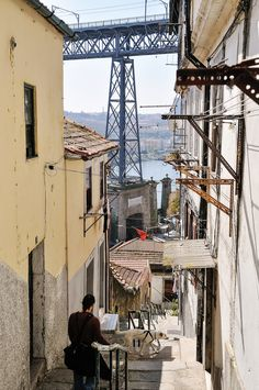 Escadas dos Guindais: Take The Stairs In Porto Brazilian Portuguese, Learn Portuguese, Most Beautiful Cities, Beautiful Beaches, Porto City, Take The Stairs, Douro, Portugal Travel, Places To Go