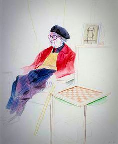 David Hockney - Man Ray 1973