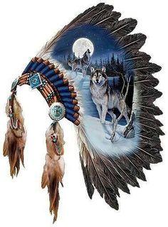 Wolf and headdress