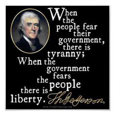 Why would Thomas Jefferson say these two quotes?