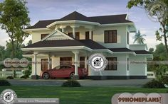 Kerala House Designs Photos Luxury Double Storey Homes Online Free House Plans, Simple House Plans, Beautiful House Plans, Beautiful Home Designs, Kerala Traditional House, Traditional Style Homes, Traditional House Plans, Village House Design, Kerala House Design