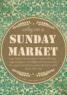 Only on a Sunday Market, Cape Town (Sunday -