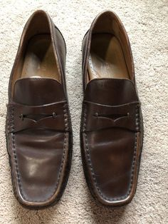 818457aeba8 Brass Boot Walking Gloves Men s Penny Loafer Brown size 10 Made in India   fashion