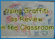 Using Graffiti as Review in the Classroom - This is a great review activity for test prep, before quizzes and tests, or any time you think your students need a refresher! It works at ANY grade level because students can draw OR write what they are thinking!