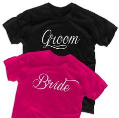 Bride shirt groom t shirt personalized tshirt by lptshirt on Etsy, $29.90
