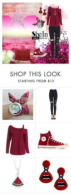 """""""She 14"""" by sarahguo ❤ liked on Polyvore featuring Converse, Yazbukey and Chanel"""