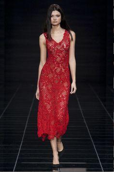 Red Crochet in fashion…..