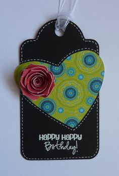 I love the rose on this tag!