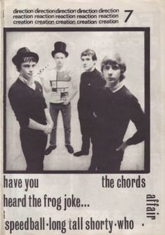 The Chords: Modzine, Direction Reaction Creation # 7, 1980.