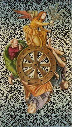 X - La roue de la fortune - Tarot d'or Botticelli par Atanas Alessandro Atanassov