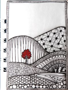 coco.nut: experimenting with Zentangle / Doodle