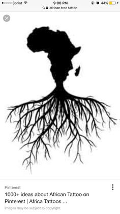 because all roots trace back to africa this would make a dope rh pinterest com Ancient African Tattoos West African Tattoo Designs