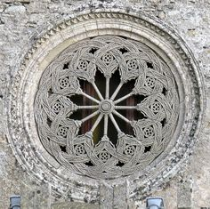 Rose Window, Chiesa Matrice, Erice, Sicily by Hunky Punk, via Flickr Braidwork, of course, suggests itself