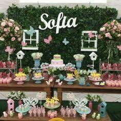 Super Ideas For Baby Shower Girl Centerpieces Bird Theme Butterfly Birthday Party, Fairy Birthday Party, Garden Birthday, 1st Birthday Girls, Birthday Party Decorations, Birthday Parties, Baby Shower Centerpieces, Baby Shower Decorations, Baby Shower Themes