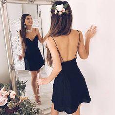 Swanky Slip Black Dress