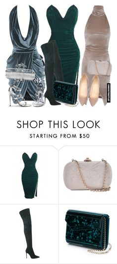"""""""Untitled #2473"""" by whokd ❤ liked on Polyvore featuring Versace, Christian Louboutin, Gianvito Rossi, Jimmy Choo, Alexander McQueen, Tom Ford, women's clothing, women's fashion, women and female"""