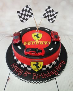 Best Ferrari Cars Cake Birthday Parties IdeasYou can find Car cakes and more on our website. Bolo Ferrari, Ferrari Cake, Ferrari Party, Ferrari F40, Pink Ferrari, Ferrari Logo, Harry Birthday, Race Car Birthday, Cars Birthday Parties