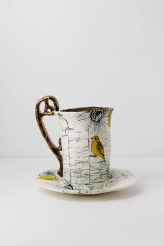 Feathered Friends Teacup from Anthropologie / Taza de té de Anthropologie modelo Amigos Emplumados