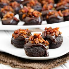Double chocolate bacon cupcakes - my sister made these (I do not bake). They were a HIT!!