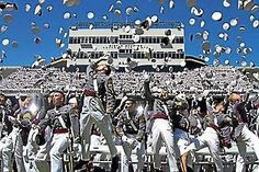 West Point · The traditional hat toss at the conclusion of United States  Military Academy graduation http   bef7141e0a03